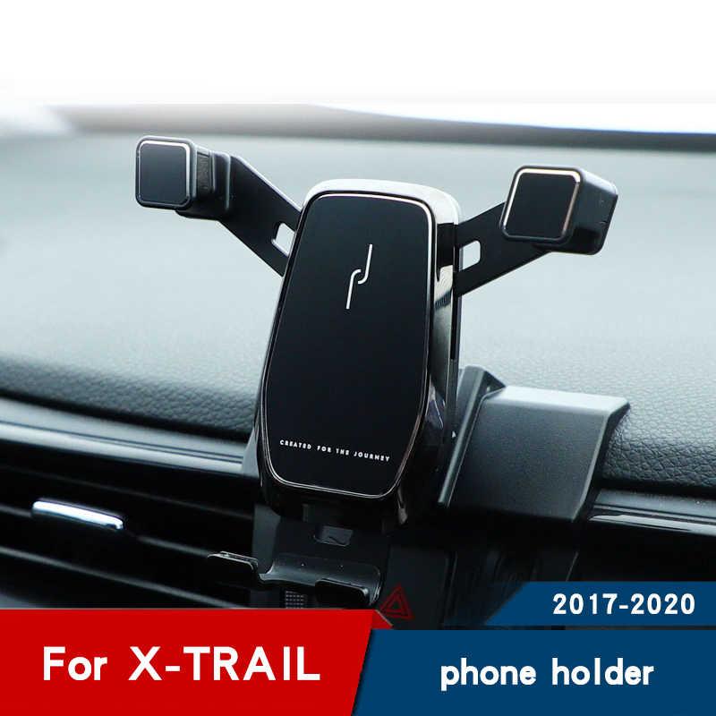 自動車電話ホルダー日産 x トレイル 2019 アクセサリーエアベント携帯電話スタンドナビゲーションブラケット 2017 2018 2020