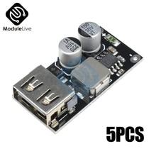 5 шт. QC3.0 QC2.0 USB преобразователь зарядки Модуль 6-32 в 9 в 12 В 24 в быстрое зарядное устройство печатная плата 5 в 12 В понижающий