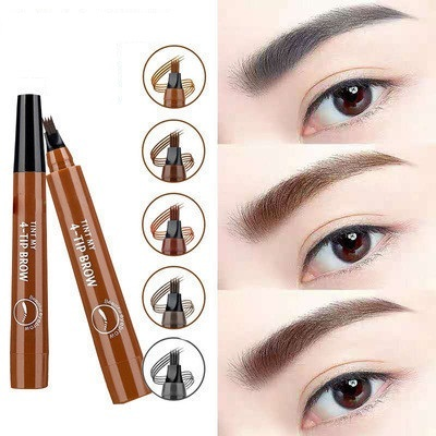 MB Natural Eyebrow Four-Headed Pencil Waterproof 5-Colors Pencil Brown Gray Anti-sweat Eye Brow Makeup Tools 2