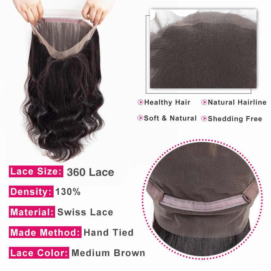 Bling Haar Body Wave Bundels Met 360 Kant Frontale Braziliaanse Hair Weave Bundels Bundels Met Sluiting Remy Human Hair Extensions