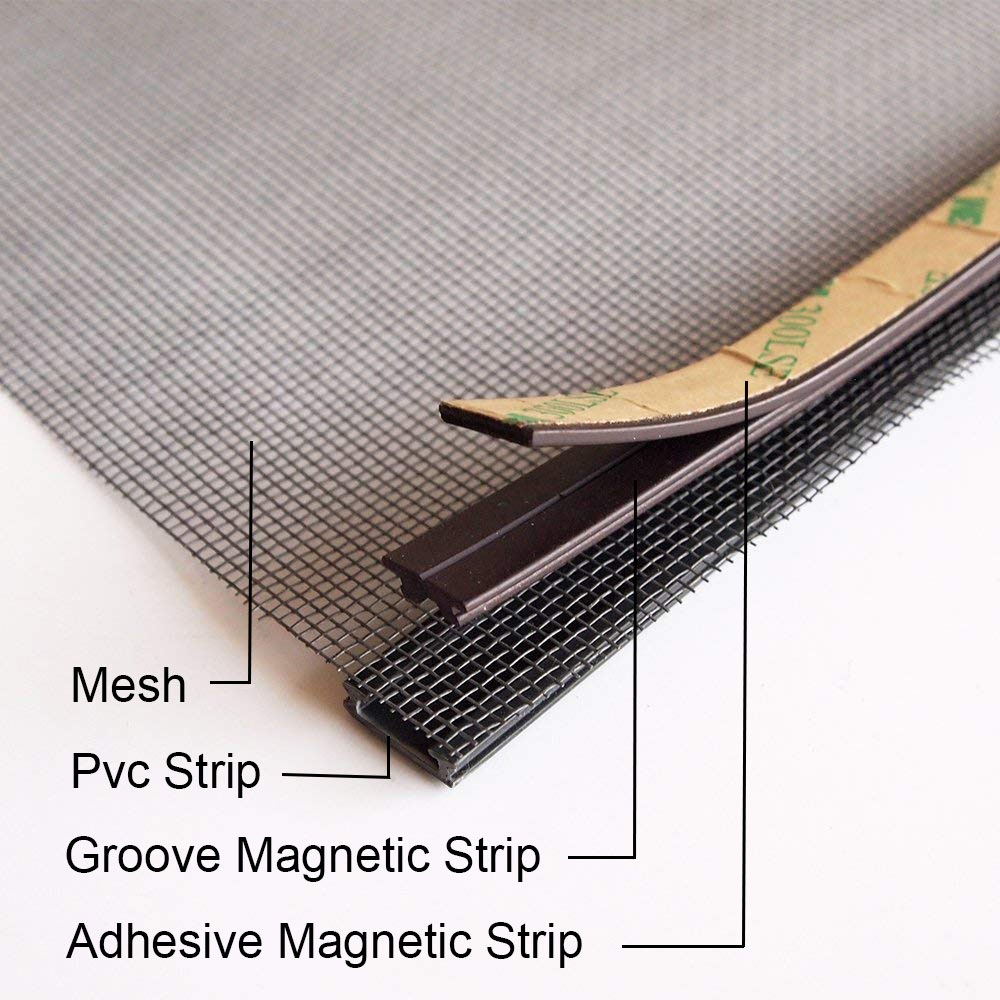 Insect Tulle DIY Customize Magnet Magnetic Window Screen Windows Removable Washable Invisible Fly Mosquito Screen Tape Net Mesh 6