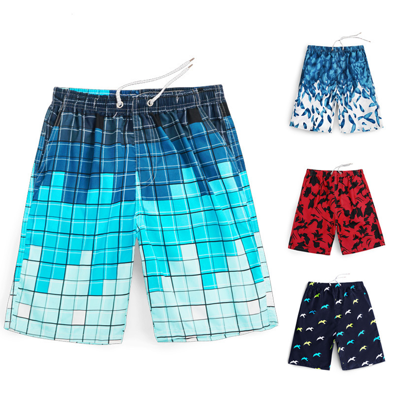 Support Swimming Trunks Men's Anti-Awkward Quick-Dry Hot Springs AussieBum Printed Quick-Dry Large Size Adult Seaside