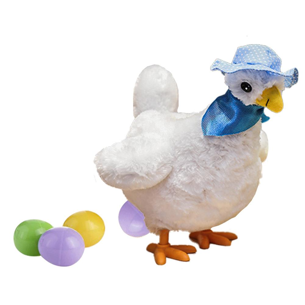 1pc Funny Doll Raw Chicken Hens will lay eggs of chickens crazy electric pet plush toys Gifts for Children image