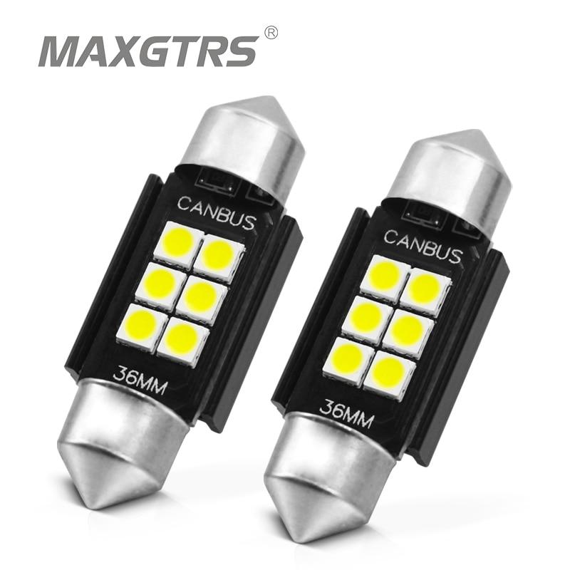 2x3030 чип гирлянда C5w Светодиодная лампа CANBUS C10w купольная лампа для чтения Автомобильная внутренняя Лицензия светильник с пластиной белый го...