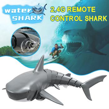 Radio Shark łódź rybacka pilot łódź z przynętą Mini Radio elektroniczny rekin łódź rybacka łódź zabawka zabawka symulacyjna dla dzieci dzieci # T3 tanie i dobre opinie BEHATRD 8 lat Motorówka 0609 Water remote control shark toy