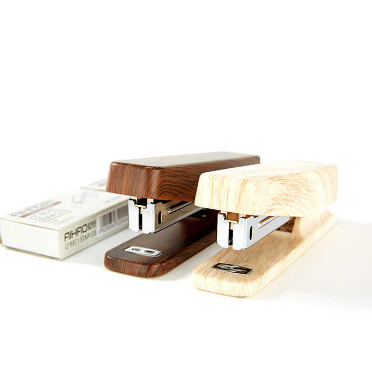 Zszywacz do drewna ręcznego prosty zszywacz biurowy do szkoły studenckiej z 1000 szt. 10 # zszywki