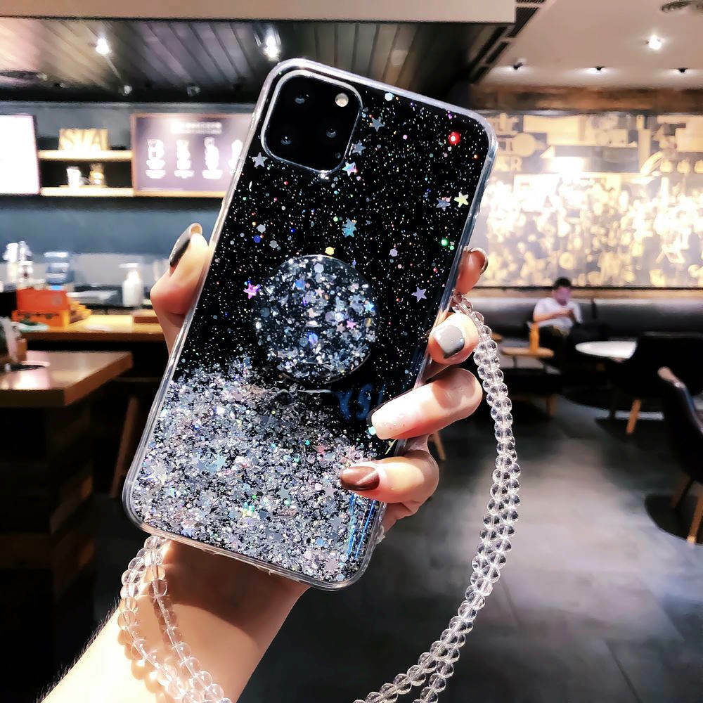 Bling Glitter Standing Case For iPhone Models Plus Slim Case With Stand Holder 21