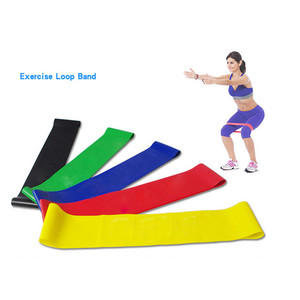 Resistance Band Loop Yoga Pilates Home GYM Fitness Exercise Workout Training Elastic Pul Body Training Workout Yoga Rubber Rope
