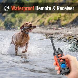 Image 4 - Ipets Collar de choque eléctrico para 3 perros, collarín de vibración recargable e impermeable de 616 M, novedad de 800