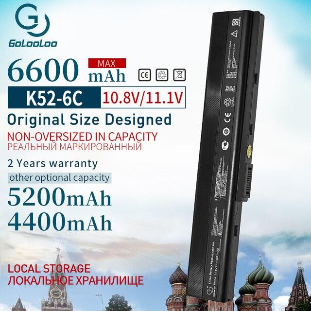 6600 мА/ч, новинка, Аккумулятор для ноутбука ASUS A32 K52 k52 A52 A52J X52F X52JB X52JC X52JE X52JG X52JK X52JR X52Jt X52JV k52j X52SG