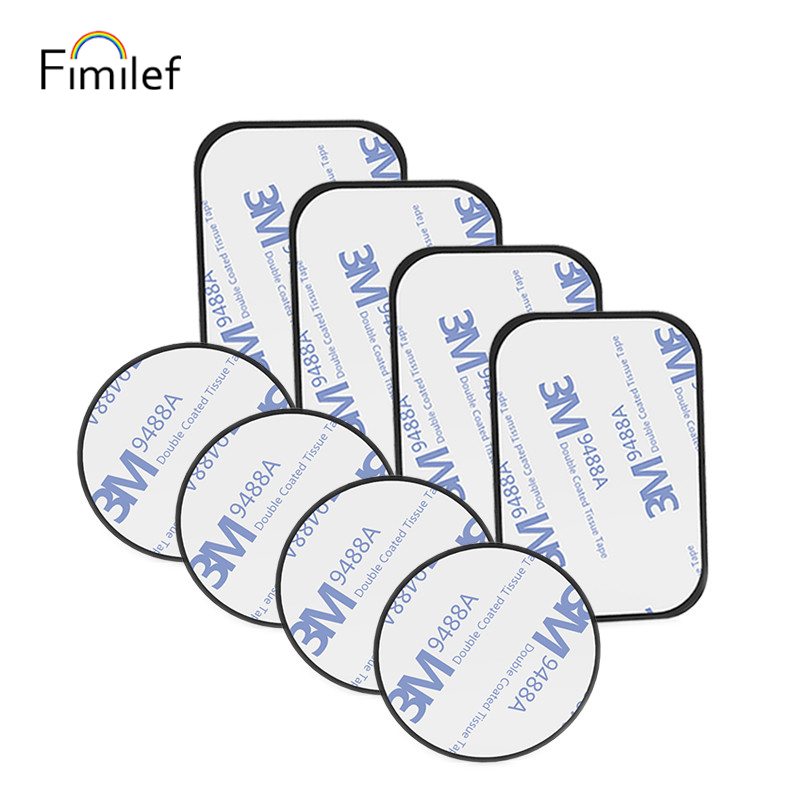 Fimilef Metal Plate Universal Mount Metal Plate Kit with Adhesive for Magnetic Car Mount Cell Phone Holder Magnet Mobile Stand