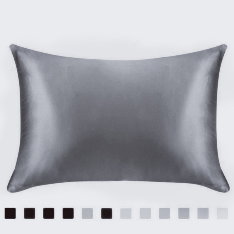 Cheap Pillowcases Silk-like Pillow Cover Solid Color Couple Pillow Case US Twin Queen Home Textiles Bed Decor Free Shipping
