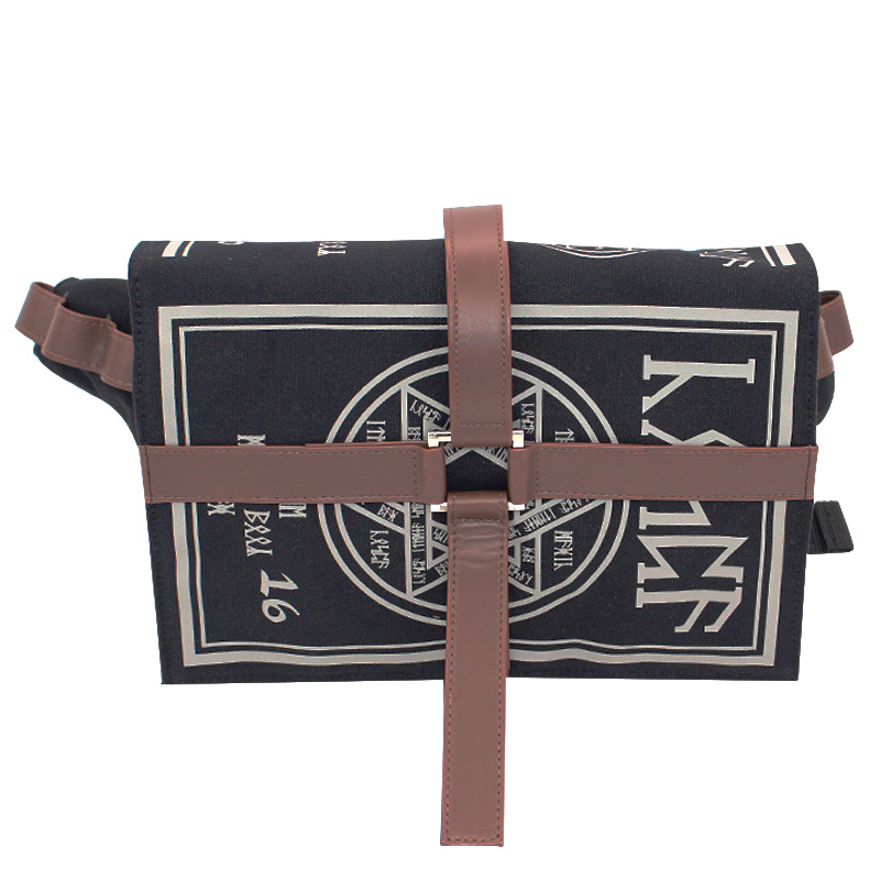 Gothic Magical Spell Book Messenger Crossbody Bag Gift Cosplay Adjustable For Students HSJ88