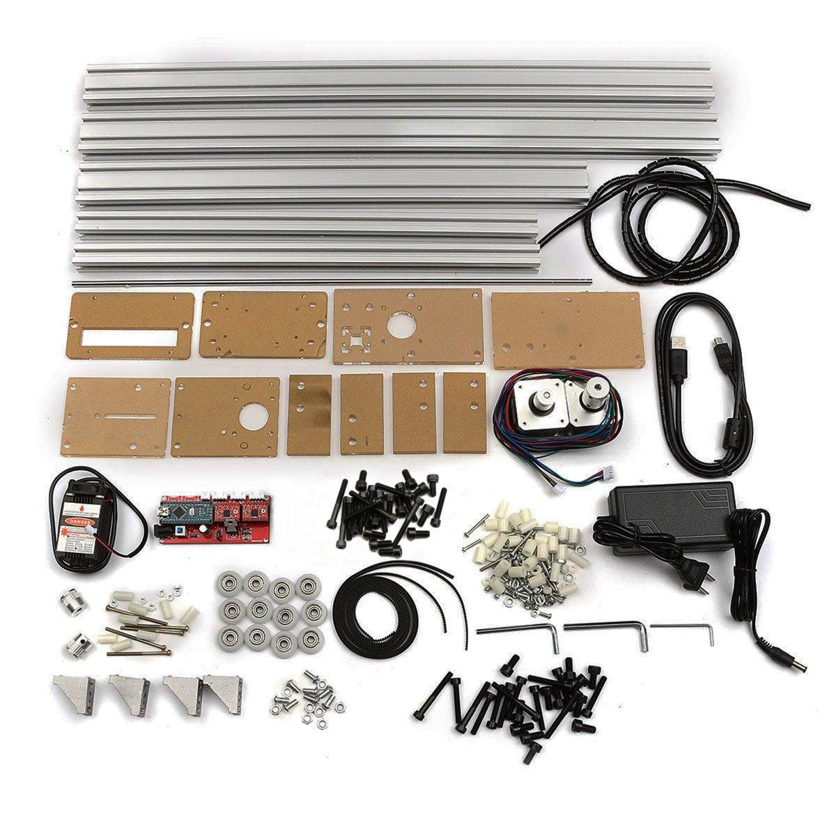 40X50CM 500mW DIY Desktop Mini Blue Laser Engraving Engraver Machine Wood Router/Cutter/Printer/Power Adjustable Laser