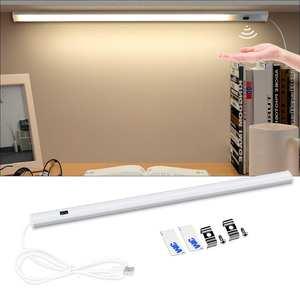 5 V Светодиодная лента USB настольная лампа ручная развертка Переключить назад светильник движения Сенсор книга Настольный светильник для де...