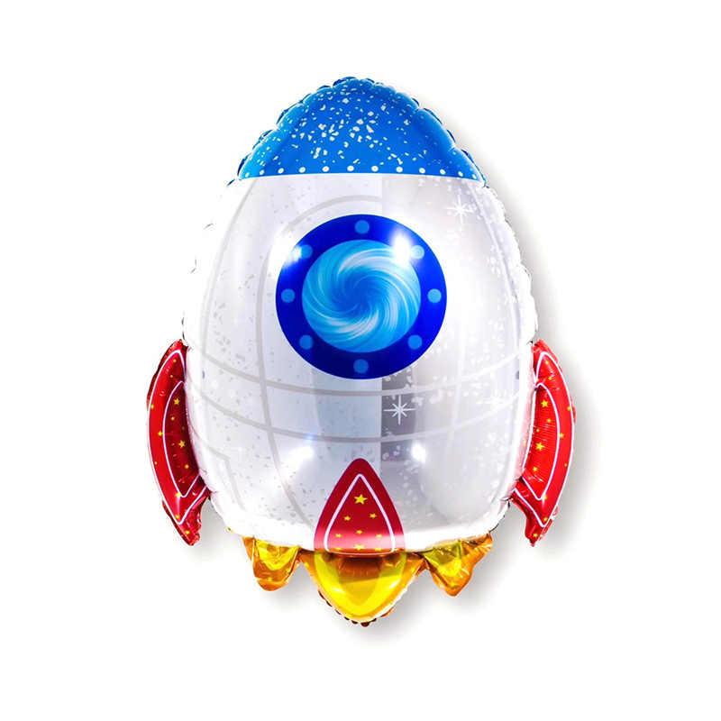 Astronot alüminyum folyo balon ay floresan duvar çıkartmaları uzay parti Decorati mektup balon bebek duş doğum günü malzemeleri
