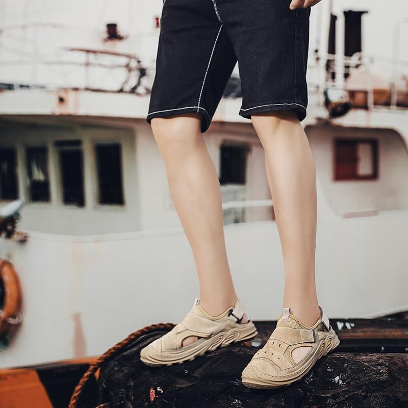 moda sandalias moda sandalen ete couro masculino