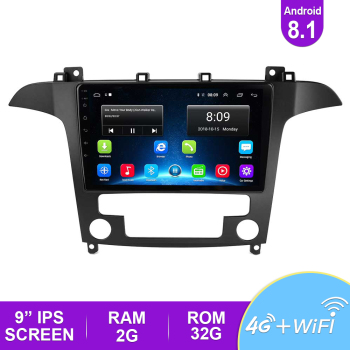 цена на 2.5D 9'' IPS Car Radio Android 8.1 Auto Stereo Multimedia For Ford S-Max Ford S Max 2007 2008 GPS Navi Navigation Car DVD Player