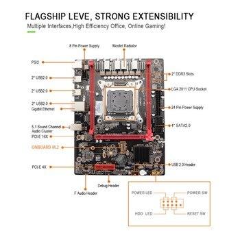 X79 Computer Motherboard LGA 2011 Desktop CPU Combo 24-Pin Power Connector Support ECC/ REG Memory And Xeon E5 Processor.