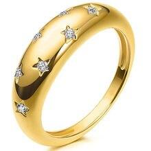 Moda estrela de cristal ouro junta anel para feminino encantador feminino índice dedo acessórios europeus e americanos jóias