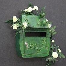 Винтажный Ретро настенный почтовый ящик с ключом замок почтовый ящик открытый двор дверь крыльцо висячие украшения