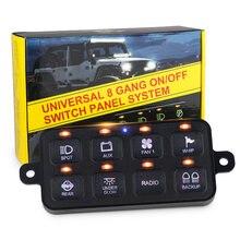 Светодиодная панель переключателя dc12v 24v 100a 8 gang с загрузкой