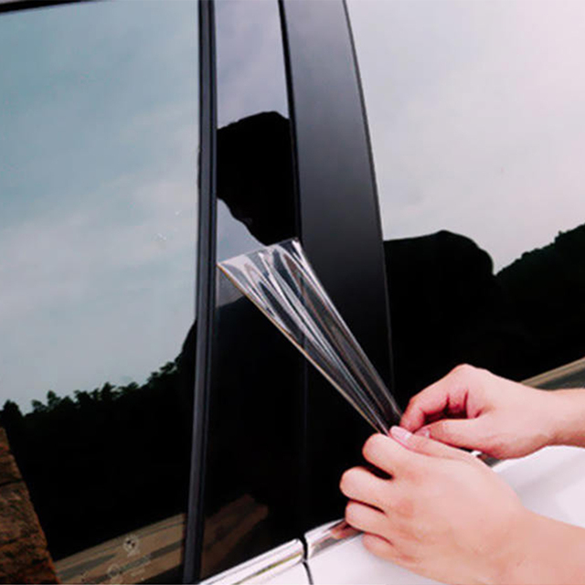 6pcs BC Pillar Cover Door Window Black Trim Strip for Honda Civic Sedan 2016 2017 2018 New Styling Car Sticker Accessories