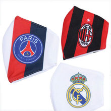 Masque de Club de Football Paris Saint-Germain filtre facial réutilisable de haute qualité Juve Real Madrid Liverpool bouchon buccal Anti-poussière(China)