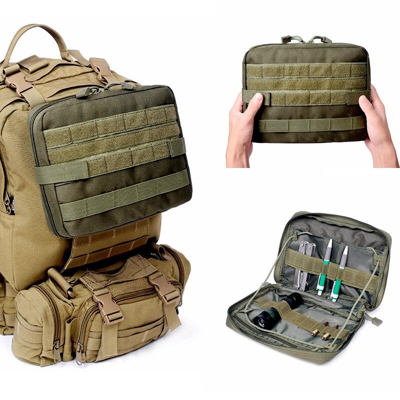 Askeri taktik Molle tıbbi ilk yardım çantası açık spor naylon çok fonksiyonlu sırt çantası aksesuar ordu EDC avcılık alet çantası