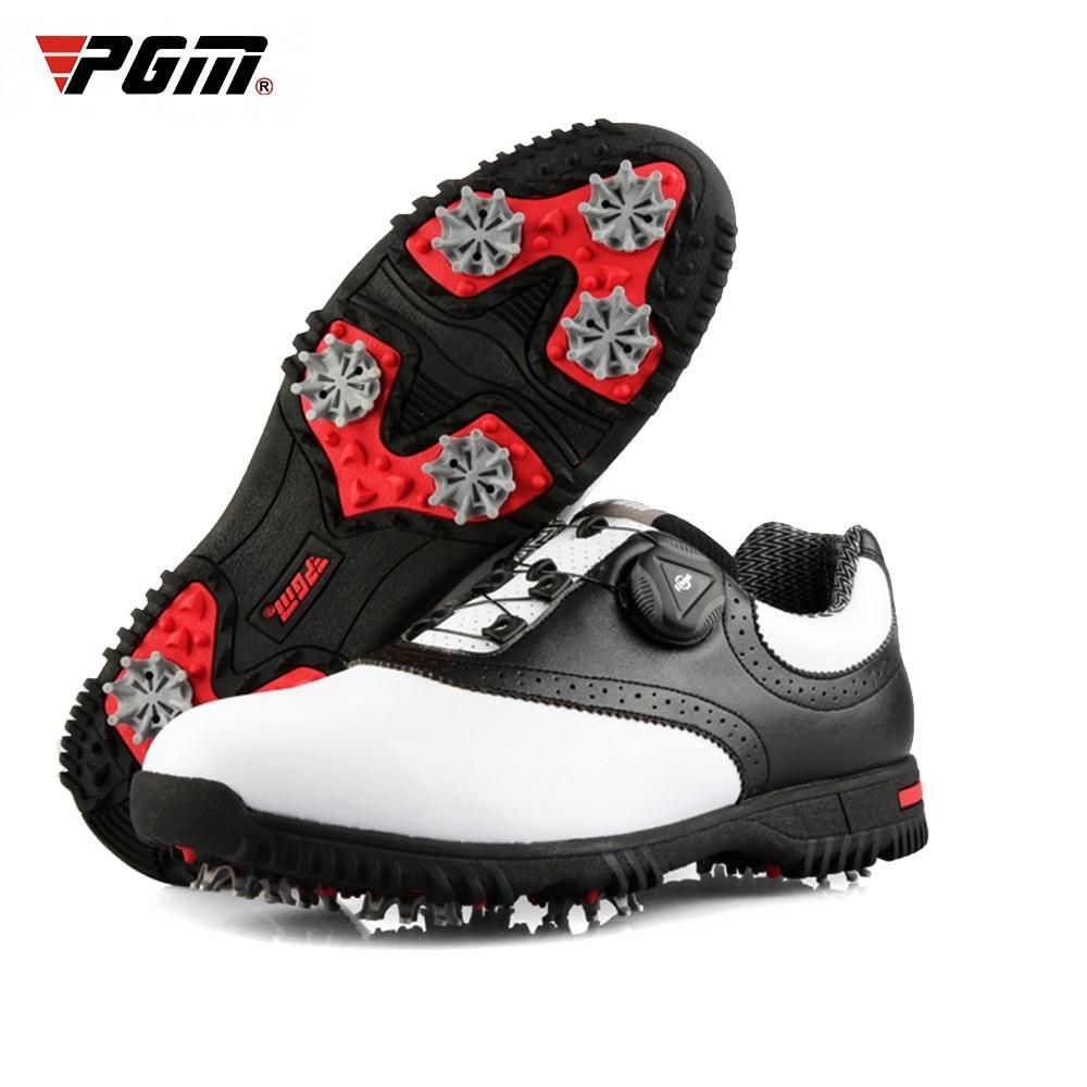 PGM Men Golf Shoes Waterproof Sports Shoes Rotating Buckles Anti-slip Sneakers Multifunctional Golf Trainers 2