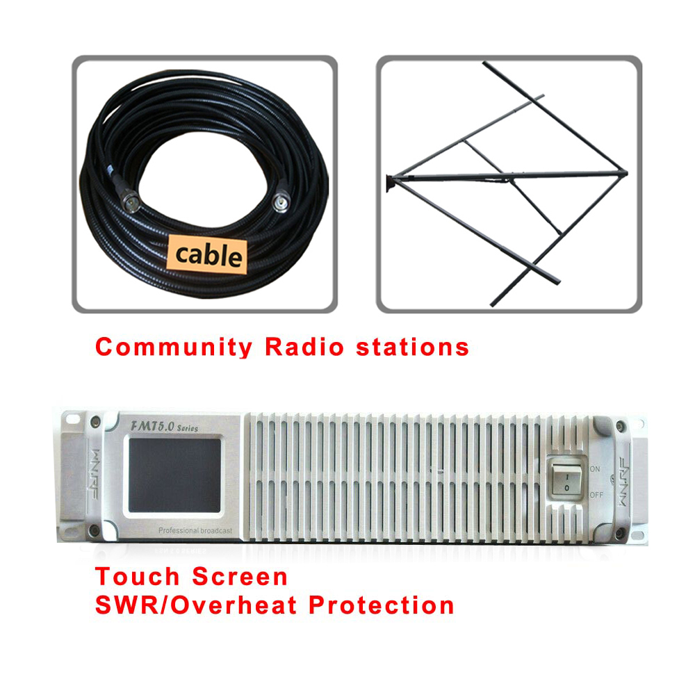 FMT5.0 300W FSN-300 FM-radio-zender 87,5-108 MHz + Circulair - Home audio en video