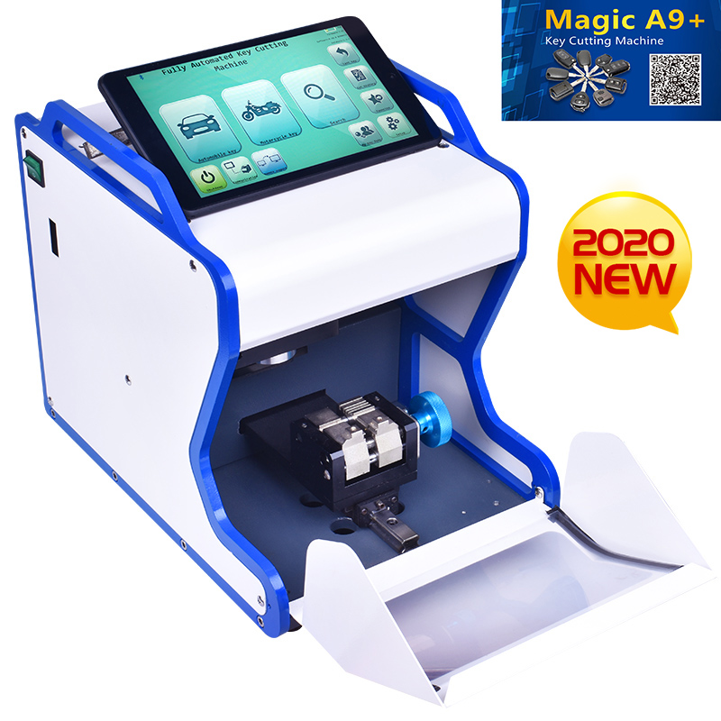 2020 Newest Automatic Magic A9 + Key Cutting Machine Better Than MIRACLE A7 Full Automatic Electronic Three Axe