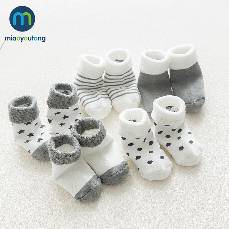 5 pair High Quality Thicken Cartoon Comfort Cotton Newborn Socks Kids Boy New Born Baby Girl Socks Meia Infantil Miaoyoutong 1