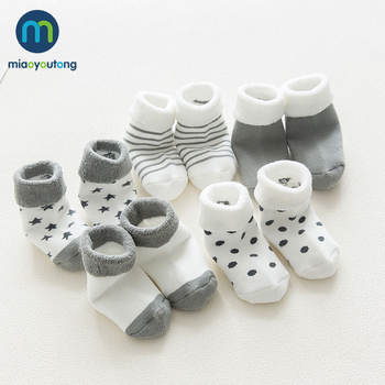 5 pair High Quality Thicken Cartoon Comfort Cotton Newborn Socks Kids Boy New Born Baby Girl Socks Meia Infantil Miaoyoutong