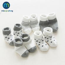 Miaoyoutong-Skarpetki bawełniane wysokiej jakości niemowlęce bardzo wygodne grube skarpety dla małych dzieci dla noworodków dla chłopców lub dziewczynek w stylu kreskówek 5 par tanie tanio W wieku 0-6m 7-12m 13-24m 25-36m Unisex CN (pochodzenie) spandex COTTON Cotton (main ingredient) spandex (small amount)