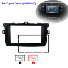 2Din Abs Auto Stereo Radio Fascia Plate Panel Frame Voor Toyota Corolla Radio Cassette Speler 2008-2010(China)