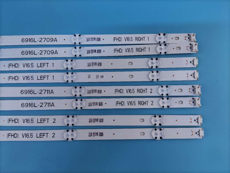 LG 49inch TV Backlight LG 49UH603V 49UH620V 6916L-2711A (8pcs=1set) 4