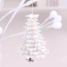 Newest Christmas Wood Ornaments 3D Pendant Hanging Xmas Tree Decor Home Party