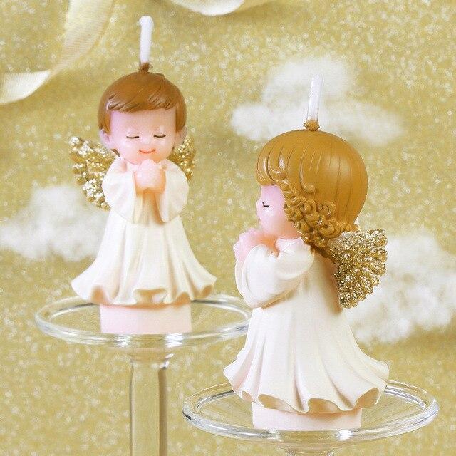 Dekoracje na imprezę urodzinową dla dzieci chłopcy dziewczęta świeczki urodzinowe cherub świece bezdymna świeca świąteczne dekoracje narzędzie do dekoracji ciast