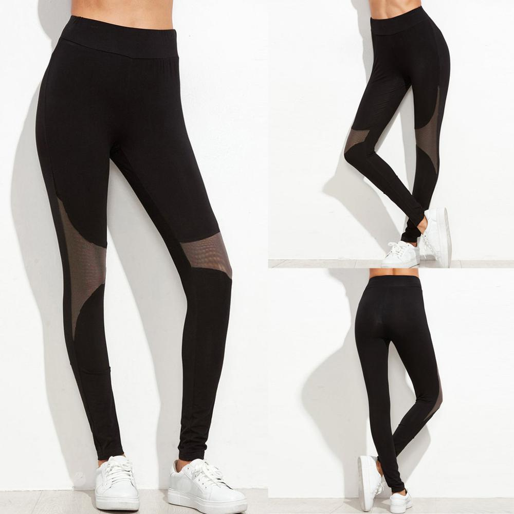 High Waist Long Pants for Womens Stretch Tight Slim Fitness Sport Gym Leggings Transer