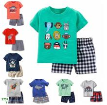Children Clothes Suit Baby Boy Clothing Sets Infant T-Shirt Camo Shorts Pants Newborn Outfit Baby girl sets 6 9 12 18 24 Month