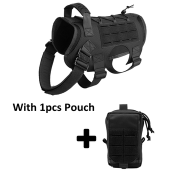 Tactical Dog Vest Military Hunting Shooting Cs Army Service Dog Vests Nylon Pet Vests Airsoft Training Molle Dog Vest Harness 9
