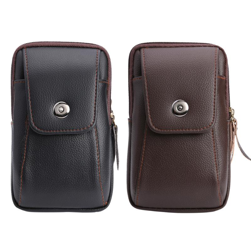 Multi-Function Wallet Fashion PU Leather Purse Belt Bag Retro  Zipper Card Clutch Holder Phone Pouch For Male Ornament