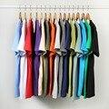 Оптовая продажа серебряные ювелирные изделия якоря моря чайки футболки для мужчин и женщин 100% хлопковая одноцветная одежда с короткими рук...