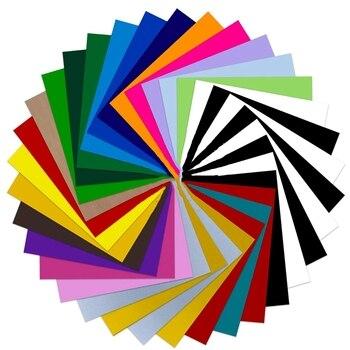 Vinilo de transferencia térmica HTV paquete 34 paquetes de hojas de 30,48 cm x 25,4 cm, tela de planchado DIY, prensa en caliente de camiseta