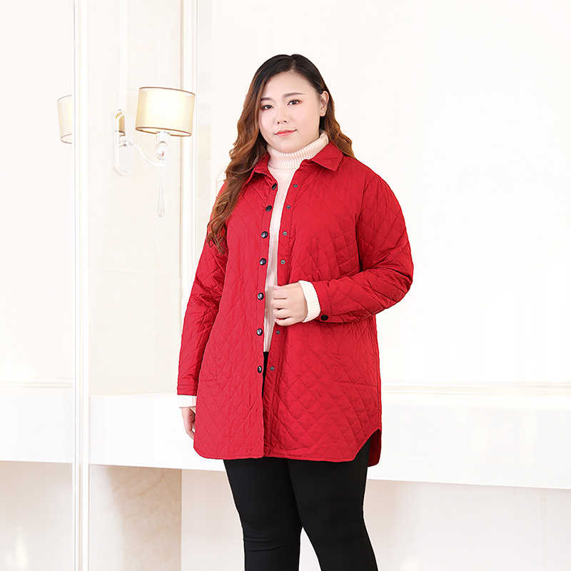 Big Size Parkas Lades 2019 New Spring Winter Casual Women Jackets Plus Euro Size 5XL 6XL Turn-down Collar Female Outerwear