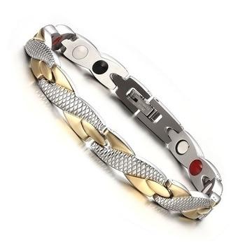 Silver-Gold-Magnetic-Bracelet-Man