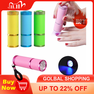 Image 1 - Biutee Nail Dryer Mini LED Flashlight UV Lamp Portable For Nail Gel Fast Dryer Cure 4 Colors Choose Nail Gel Cure Manicure Tool