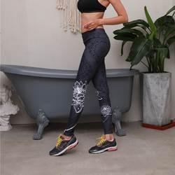 Европейский и американский тренд 2019 новые женские уличные штаны для фитнеса тонкие спортивные Леггинсы с цифровой печатью леггинсы