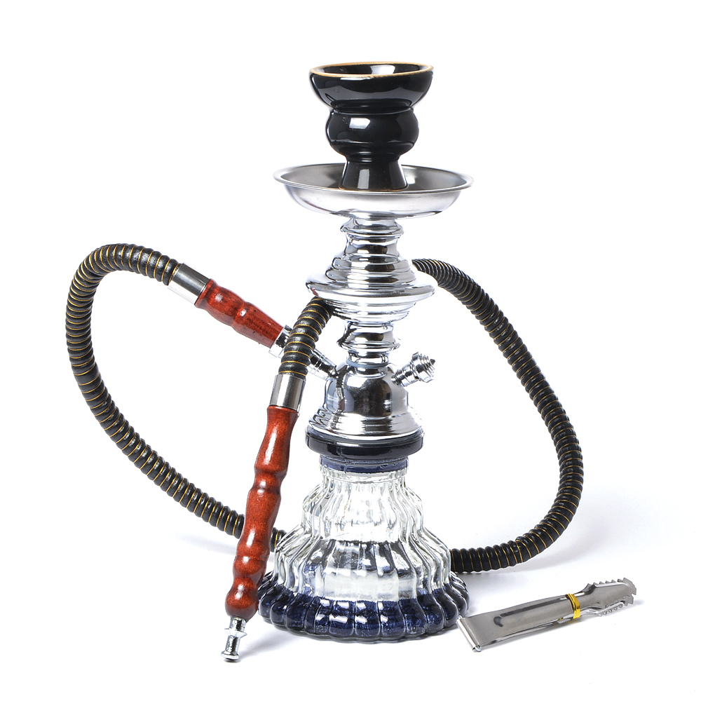 Modern Travel Cloud Hookah Small Glass Shisha Pip Set Chichas with Narguile Hose Bowl Charcoal Tongs Hoookah Accessories